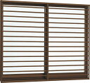 YKKAP窓サッシ 引き違い窓 フレミングJ[Low-E複層ガラス] 2枚建[面格子付] 横格子[半外付型]:[幅1370mm×高970mm...