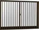 YKKAP窓サッシ 引き違い窓 フレミングJ[複層防犯ガラス] 2枚建[面格子付] 縦格子[半外付型][透明5mm+合わせ透明7mm]:[幅1820mm×高970mm]