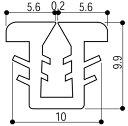YKKAP窓サッシ 部材 ガラスビート ロール品:9mm開口・ガラス厚2mm・3mm用(K-6429)150m