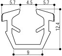 YKKAP窓サッシ 部材 ガラスビート カット品:13mm開口・ガラス厚6mm用(K-2427)1m