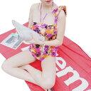 ショッピング女の子 花柄 青 赤 カラフル かわいい 3点セット水着 女の子 セクシー リゾート mizugi レディース かわいい ビキニ レディース タンキニ