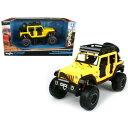 【送料無料】ホビー 模型車 モデルカー キングス1242015ジープダイカスト5モデルカー2015 jeep wrangler unlimited yellow road kings 124 diecast model car by mai