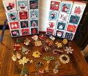 ショッピングアドベントカレンダー 【送料無料】ジュエリー・アクセサリー ロットヴィンテージクリスマスピンアドベントカレンダーワンダフルlot 24 vintage christmas pins amp; handmade advent calendar wonderful gift 3