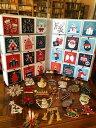 ショッピングアドベントカレンダー 【送料無料】ジュエリー・アクセサリー ロットヴィンテージクリスマスピンアドベントカレンダーワンダフルlot 24 vintage christmas pins amp; handmade advent calendar wonderful gift 2