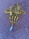 【送料無料】ジュエリー・アクセサリー カークスフォリーケルビーニペンダントウィズカラードドロップアメジストkirks folly cherubini ciondolo con ametista goccia colorate
