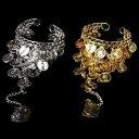 【送料無料】ジュエリー・アクセサリー ベリーダンススレーブブレスレットベリーダンスリングコインdi pancia ballo schiava bracciale con anello danza del ventre monete alla nuovo