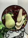 """【送料無料】キッチン用品・食器・調理器具・陶器 スタイルアイズバウムブラザーズフルーツチーズ梨フルーツプレートコレクションStyle Eyes Baum Bros Fruit Cheese 3 D Pear Fruit Plate Collection 8"""""""