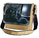 【送料無料】メッセンジャーフラップショルダーバッグcat on the windowsill messenger crossbody shoulder flap bag