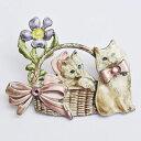 【送料無料】ネコ 猫 ネックレス ケネスエナメルラインストーンピンブローチpretty kenneth cole kc signed enamel rhinestone cat pin brooch