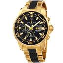 腕時計 ウォッチクロノグラフクォーツムーブメントスティールブレスレットウォッチmens akribos xxiv ak857ygb chronograph quartz movement steel bracelet watch