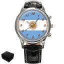 【送料無料】腕時計 ウォッチアルゼンチンメンズフラグイーグルテニアンargentina argentinian flag eagle gents mens wrist watch gift engraving