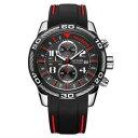 【送料無料】腕時計 ウォッチクロノグラフクォーツシリコンストラップワットmegir 2045g chronograph date display quartz watches si..
