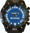 【送料無料】腕時計 ウォッチパーティーバッグテキストthank you birthday party bag insert name short text trendy wrist watch