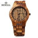 【送料無料】腕時計 ウォッチビーウェルアナログクォーツムーブメントbewell zsw086b luxury wood watch men analog quartz movement date waterproof
