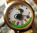 【送料無料】腕時計 ウォッチテーマバッテリーvtg watchit rare gardening theme watering can lady quartz watch needs battery