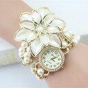 б┌┴ў╬┴╠╡╬┴б█╧╙╗■╖╫ббежейе├е┴е╗б╝еые╓еье╣еье├е╚е╒ебе├е╖ечеєе╤б╝еыепейб╝е─2017 lady luxury white flower bracelet watches women fashion pearl quartz w