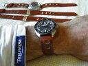 【送料無料】腕時計 ウォッチブレスレットボックスラリーマロンゴールド#18 mm bracelet box rallye pour anses fixes cuir vritable de veau marron 034;gold034;