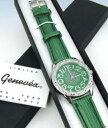 手錶 - 【送料無料】腕時計 ウォッチクロトンgenevex by croton womens green leather quartz watch