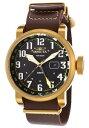 【送料無料】腕時計 ウォッチメンズブラウンレザーストラップウォッチ mens invicta 18888 aviator brown leather strap watch