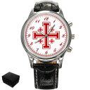 腕時計 ウォッチエルサレムウォッチjerum crusaders cross large wrist watch gift engraving