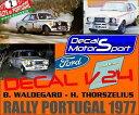 【送料無料】模型車 モデルカー スポーツカーデカールフォードエスコートラリーポルトガルdecal 124 ford escort bwaldegard h thorszelius rally portugal 1977