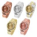 【送料無料】elegante da donna designer orologio da polso cronografo ottica con cristalli