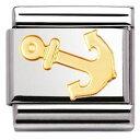 ショッピングsailing 【送料無料】ブレスレット アクセサリ— イタリアゴールドスポーツセーリングアンカークラシックツールnomination italy nominations gold sport sailing anchor classic charm tool gift