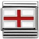 【送料無料】ブレスレット アクセサリ— イタリアイギリスイギリスツールnomination italy nominations silver flag england british charm tool