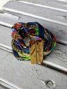 【送料無料】ブレスレット ブレスレットオリジナルワイヤネックレスペンダントbracciale hipanema originale dorato con fili colorati, ciondoli e pendenti