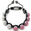 【送料無料】ブレスレット シムラーブレスレットピンククリスタルビーズブランドshimla bracciale rosa e bianco palla di fuoco crystal beads nuovo di zecca sh0110