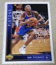 【送料無料】スポーツ メモリアル カード アッパーデッキ#トーマスチームデトロイトピストンズ