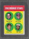 【送料無料】スポーツ メモリアル カード #スター1963 topps baseball 158 rookie stars exmt *0158