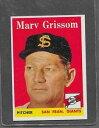 【送料無料】スポーツ メモリアル カード #1958 topps baseball 399 marv grissom exmt *6302