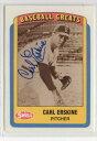 【送料無料】スポーツ メモリアル カード カールサインオートカードブルックリンドジャースcarl erskine 1990 swell au...