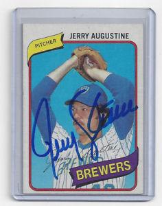 【送料無料】スポーツ メモリアル カード ブリュワーズジェリーオーガスティンカード#サイン1980 brewers jerry augustine signed card topps 243 auto autographed milwaukee