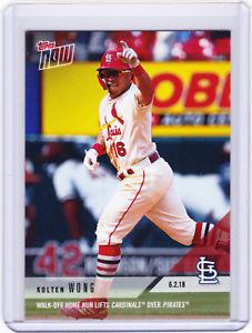 【送料無料】スポーツ メモリアル カード kolton wong cardinals topps now moment 278 on 6218 2018 print run only 231