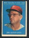 【送料無料】スポーツ メモリアル カード #ジムフィリーズ1961 topps 479 jim konstanty vgvgex phillies 48078