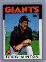 【送料無料】スポーツ メモリアル カード #グレッグサンフランシスコジャイアンツ1986 topps 310 greg minton san francisco giants