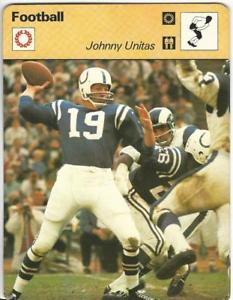 【送料無料】スポーツ メモリアル カード カードサッカージョニーホフ197779 sportscaster card, 0115 football, johnny unitas, colts hof