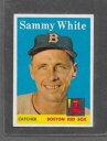 【送料無料】スポーツ メモリアル カード #サミーホワイト1958 topps baseball 414 sammy white exmt *6411