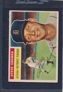 【送料無料】スポーツ メモリアル カード #スティーブタイガース1956 topps 310 steve gromek tigers ex 56t310904152