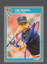 【送料無料】スポーツ メモリアル カード ティムミネソタツインズベースボールカードtim teufel signed minnesota twins 1985 fleer baseball card