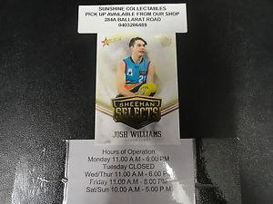 【送料無料】スポーツ メモリアル カード ジョシュウィリアムズ2016 afl future force sheehan selects ss15 josh williams