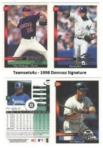 【送料無料】スポーツ メモリアル カード 1998donruss**ピックチーム**