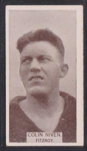 【送料無料】スポーツ メモリアル カード コリンフィッツロイライオンズwills footballers 1933 no 28 colin niven fitzroy lions