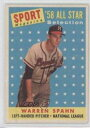 【送料無料】スポーツ メモリアル カード #ミルウォーキーブレーブスカード1958 topps 494 warren spahn milwaukee braves baseball card