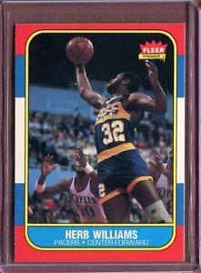 【送料無料】スポーツ メモリアル カード ハーブウィリアムズ1986 fleer 125 herb williams rc nm d186709