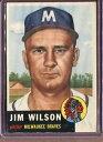 【送料無料】スポーツ メモリアル カード ジムウィルソン1953 topps 208 jim wilson vgex d115729