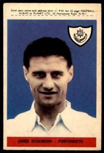 【送料無料】スポーツ メモリアル カード abc calcio 1958b3ジミーディキンソンポーツマス60
