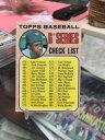 【送料無料】スポーツ メモリアル カード 1968トップス6シリーズチェックリスト454フランクロビンソン free ship